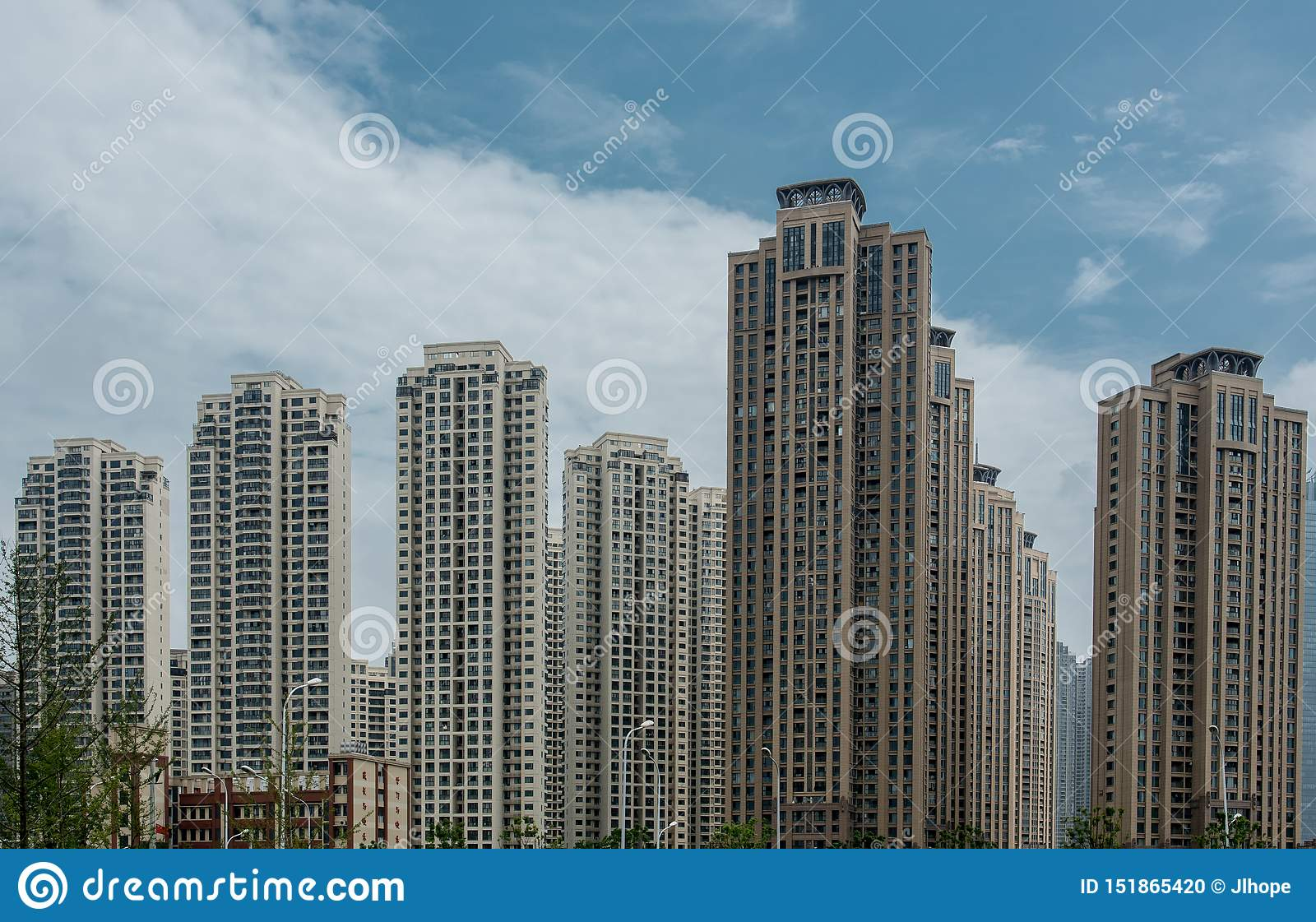 Newly Build Chinese Commercial Flats