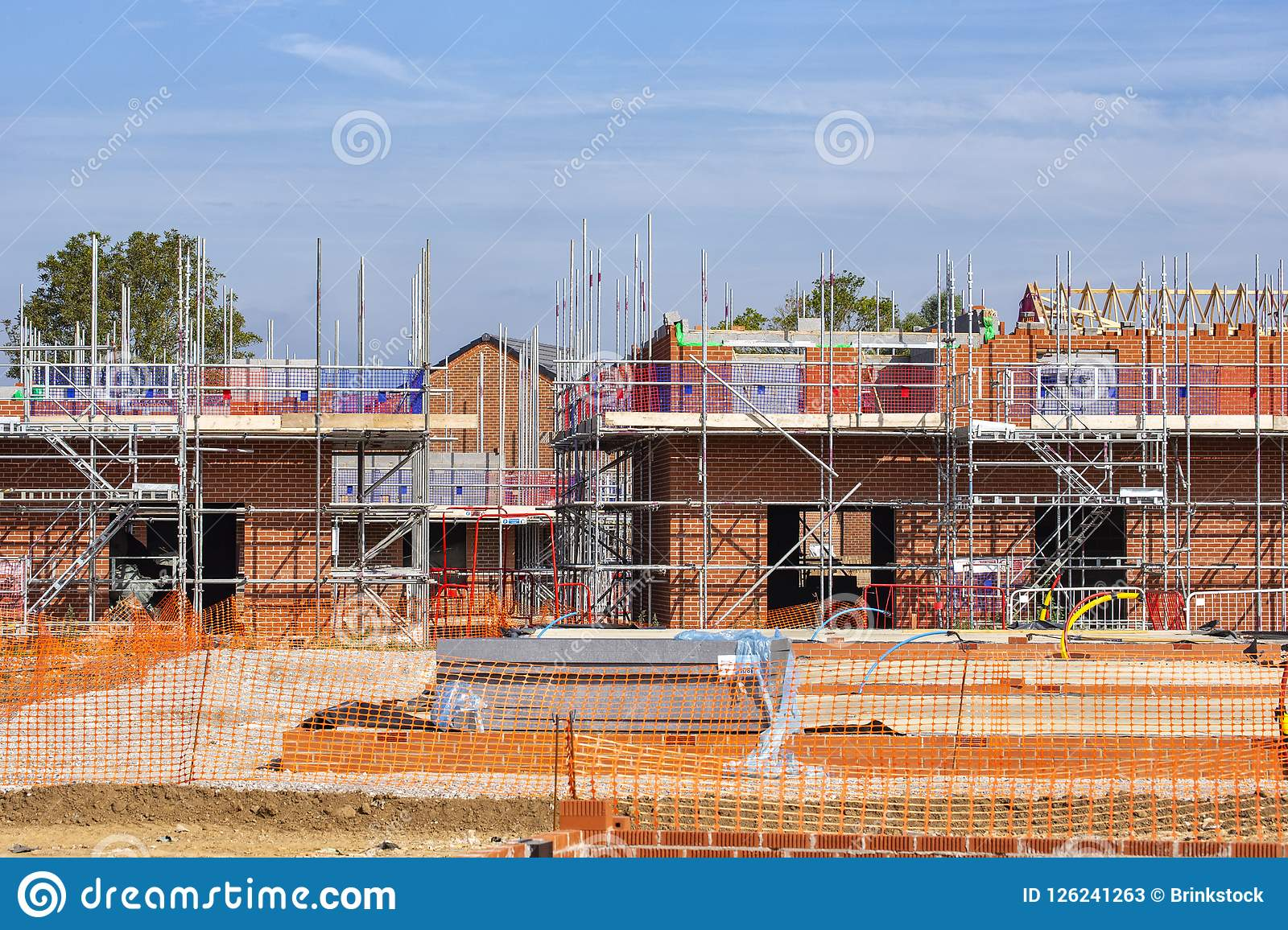 Newly build homes in a residential estate in England