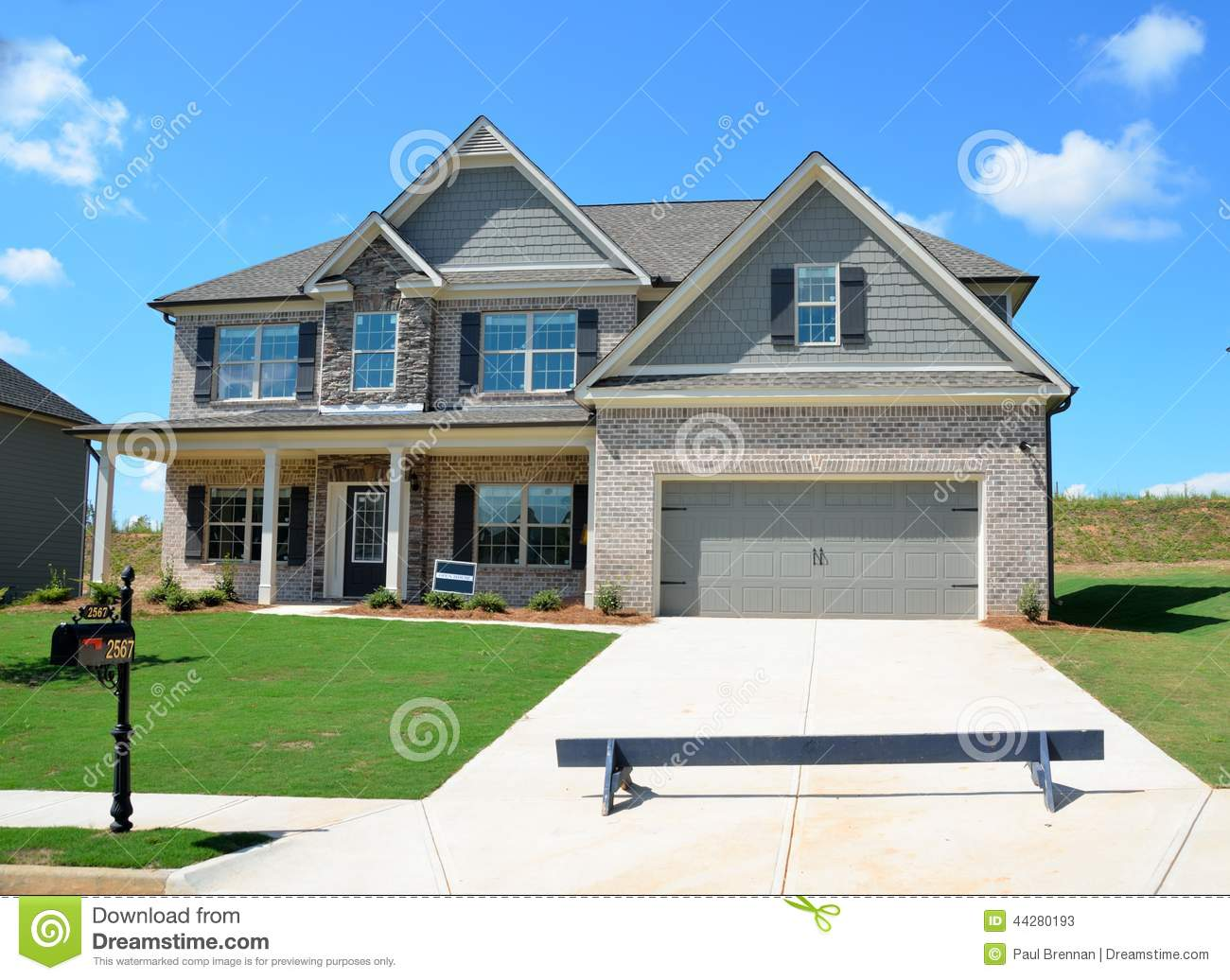 Newly constructed modern house for sale stock photo for Modern photography for sale