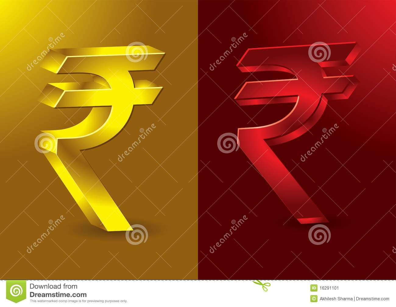 Newly Formed Indian Rupees Symbol Stock Vector Illustration Of
