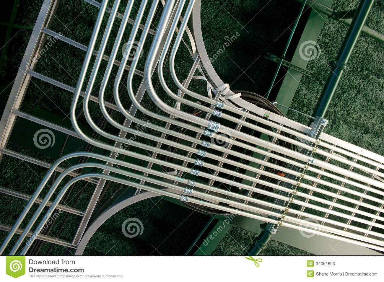 Newly Installed Electrical Conduit Junction Stock Photos