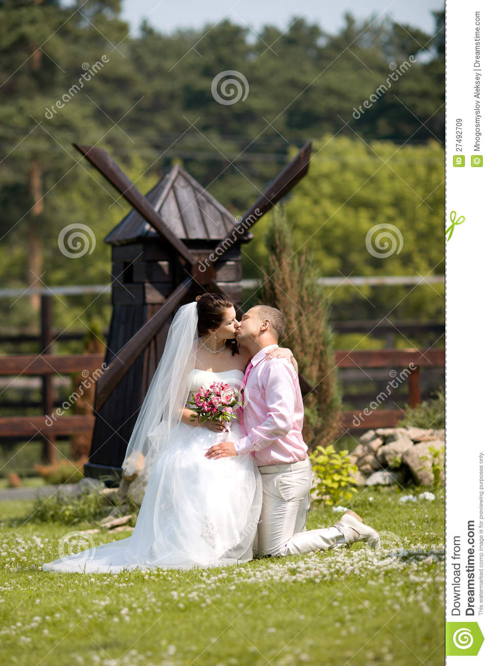 Royalty free stock images newly married couple