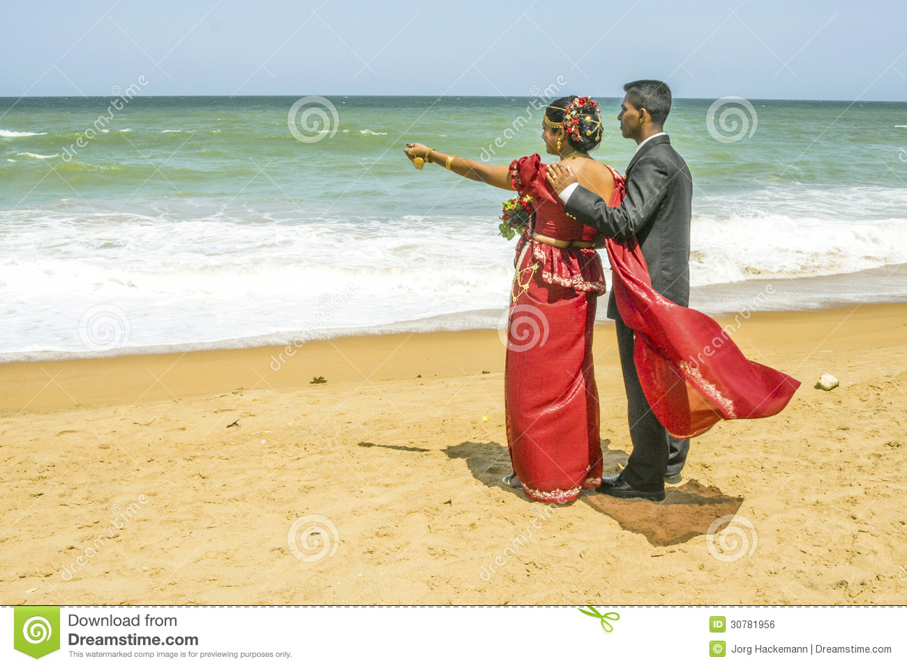 Newly married couple at a beach near colombo sri lanka editorial newly married couple at a beach near colombo sri lanka kristyandbryce Image collections