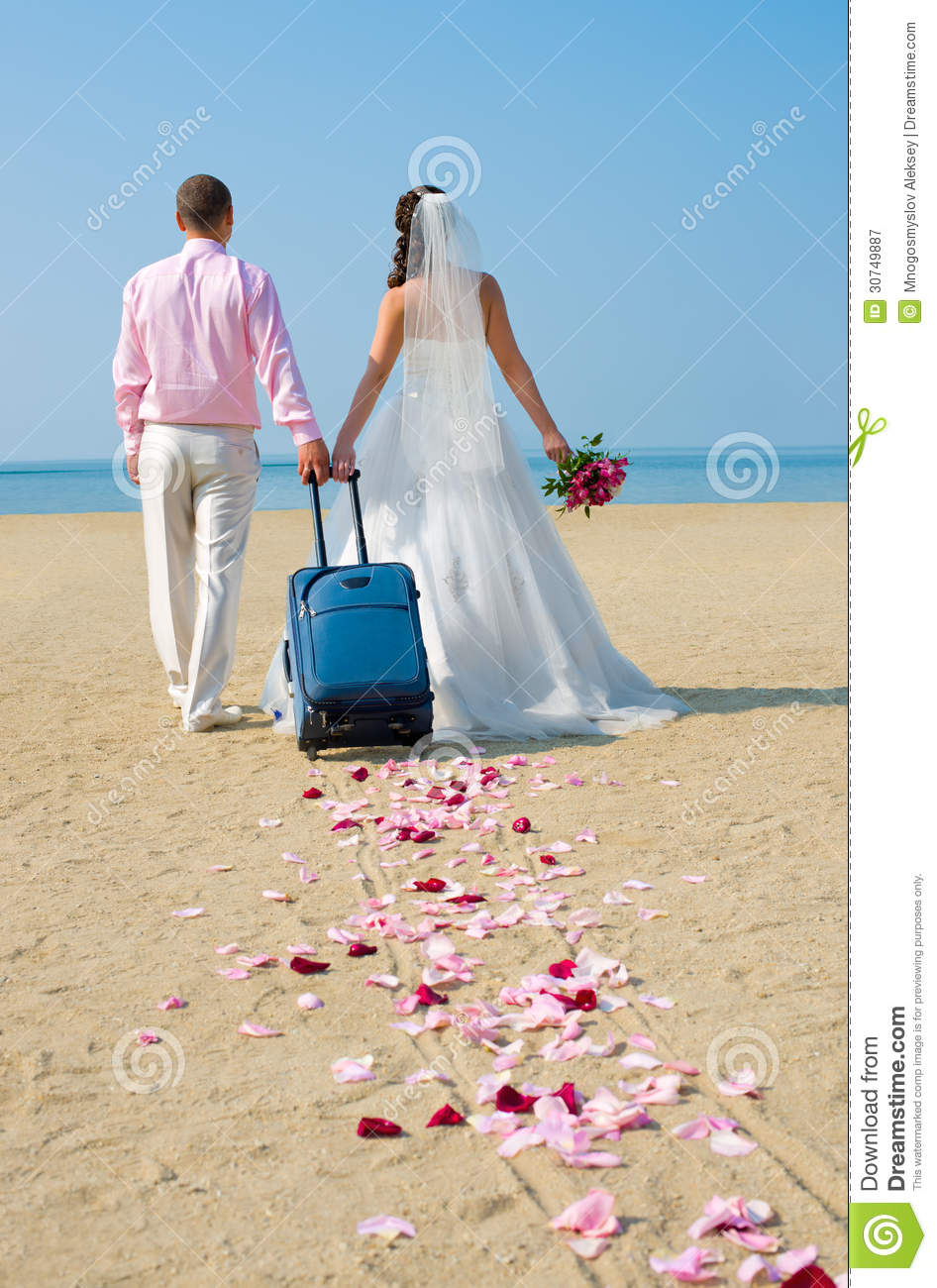 newly married couple royalty free stock photography With where to go on a honeymoon