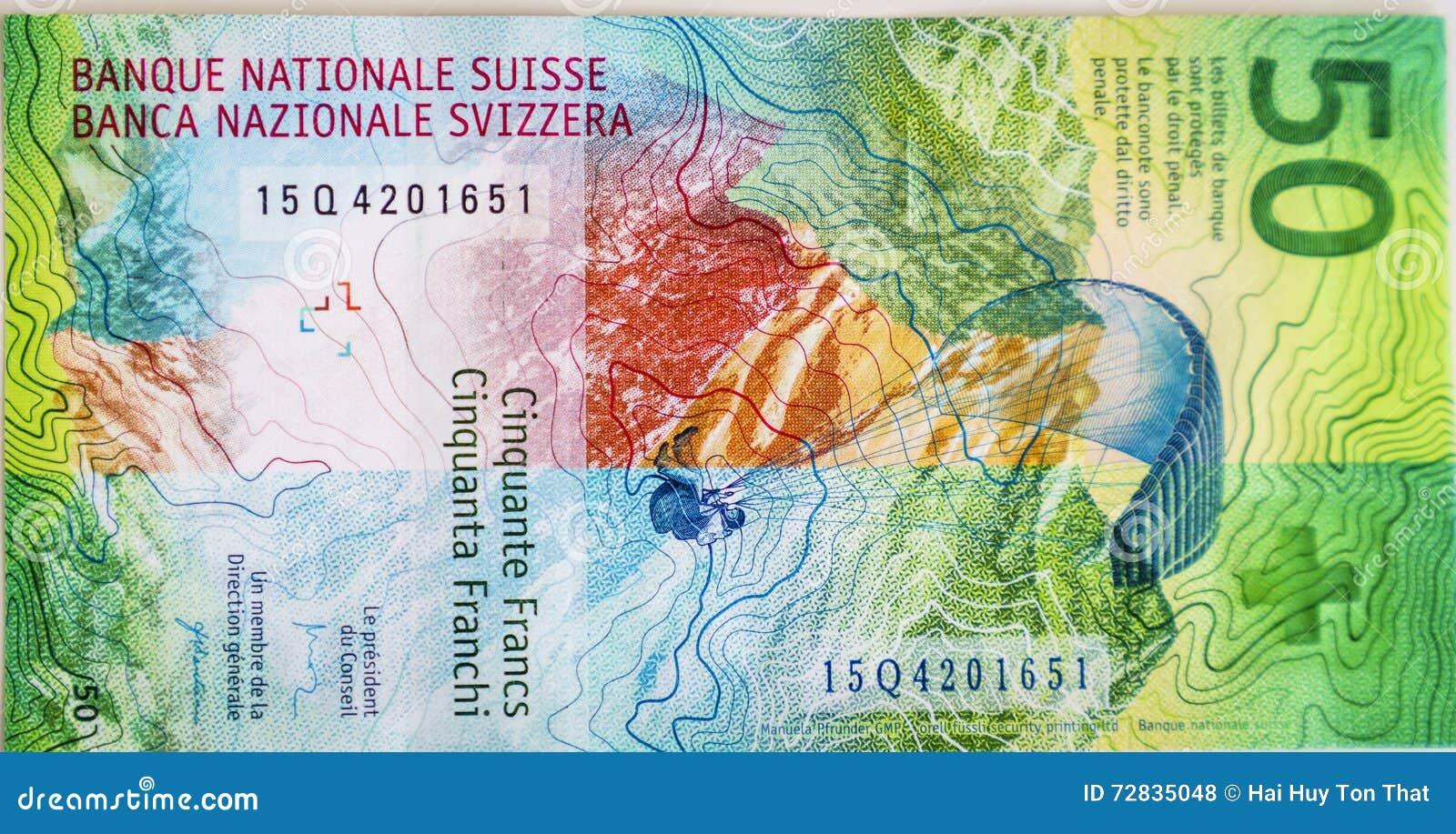 Newly 50 Swiss Franc bills