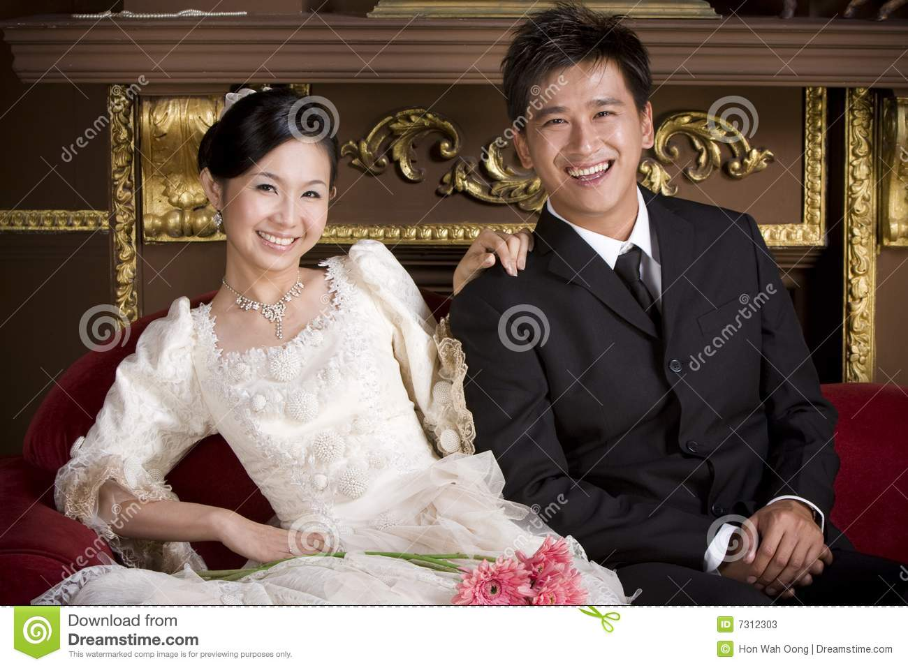 Newly wed couple 18