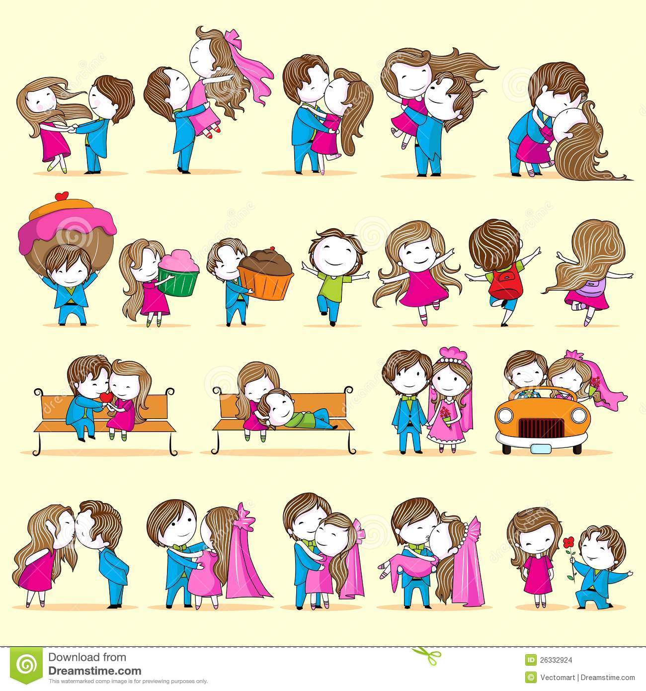 Newly wed couple stock vector illustration of illustration 26332924 newly wed couple kristyandbryce Image collections