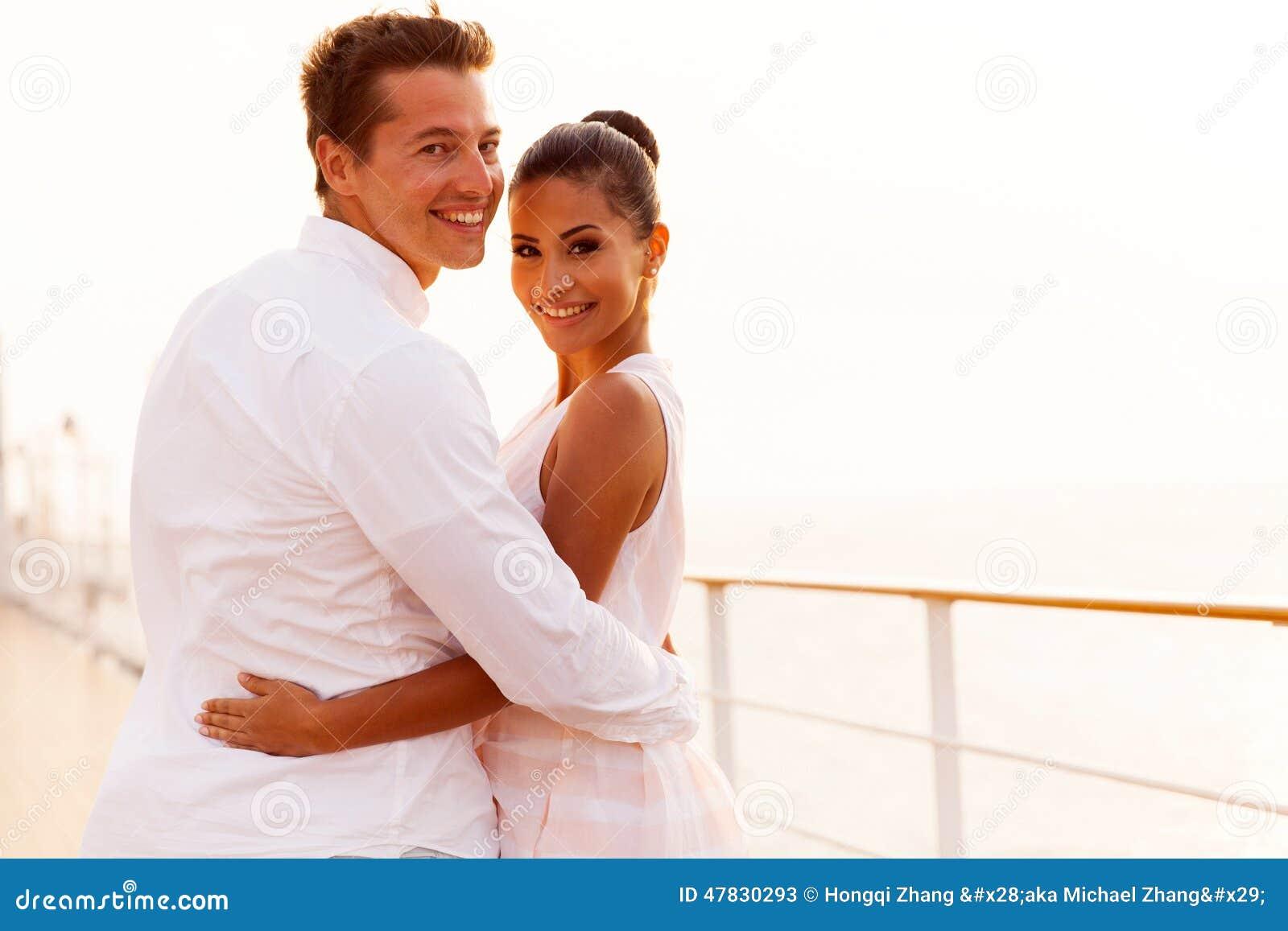 Newlywed couple cruise