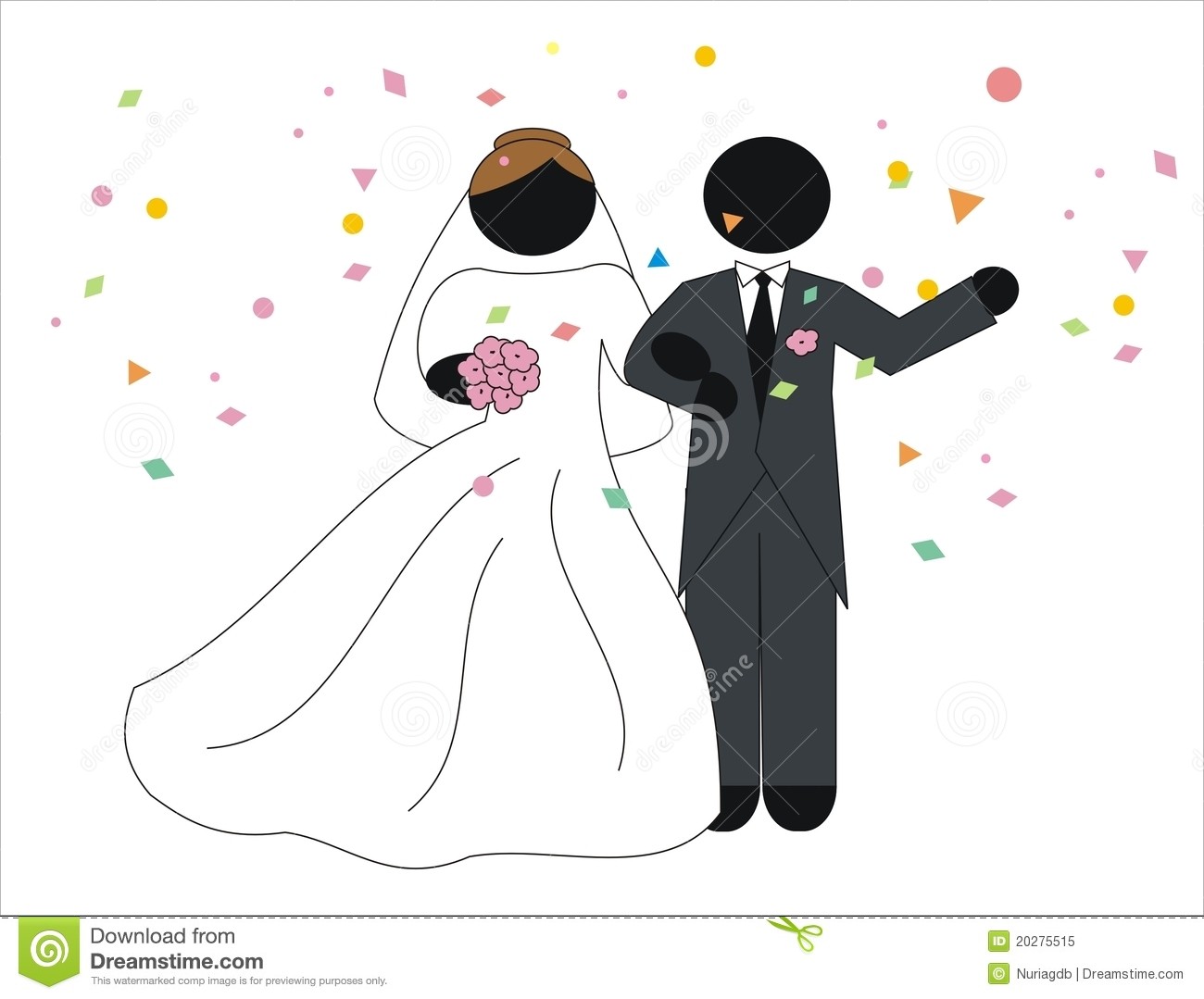 Newlyweds In Their Wedding Royalty Free Stock Photo - Image: 20275515