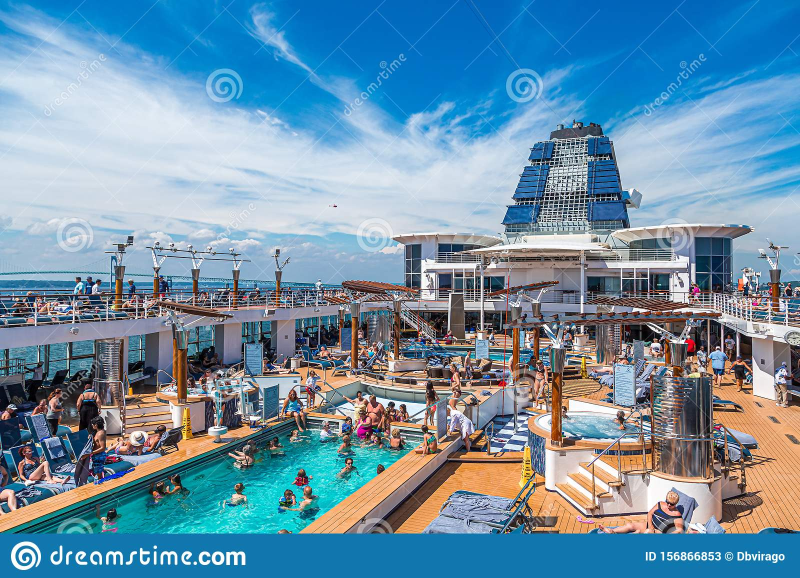 Pool Fun on Cruise Ship