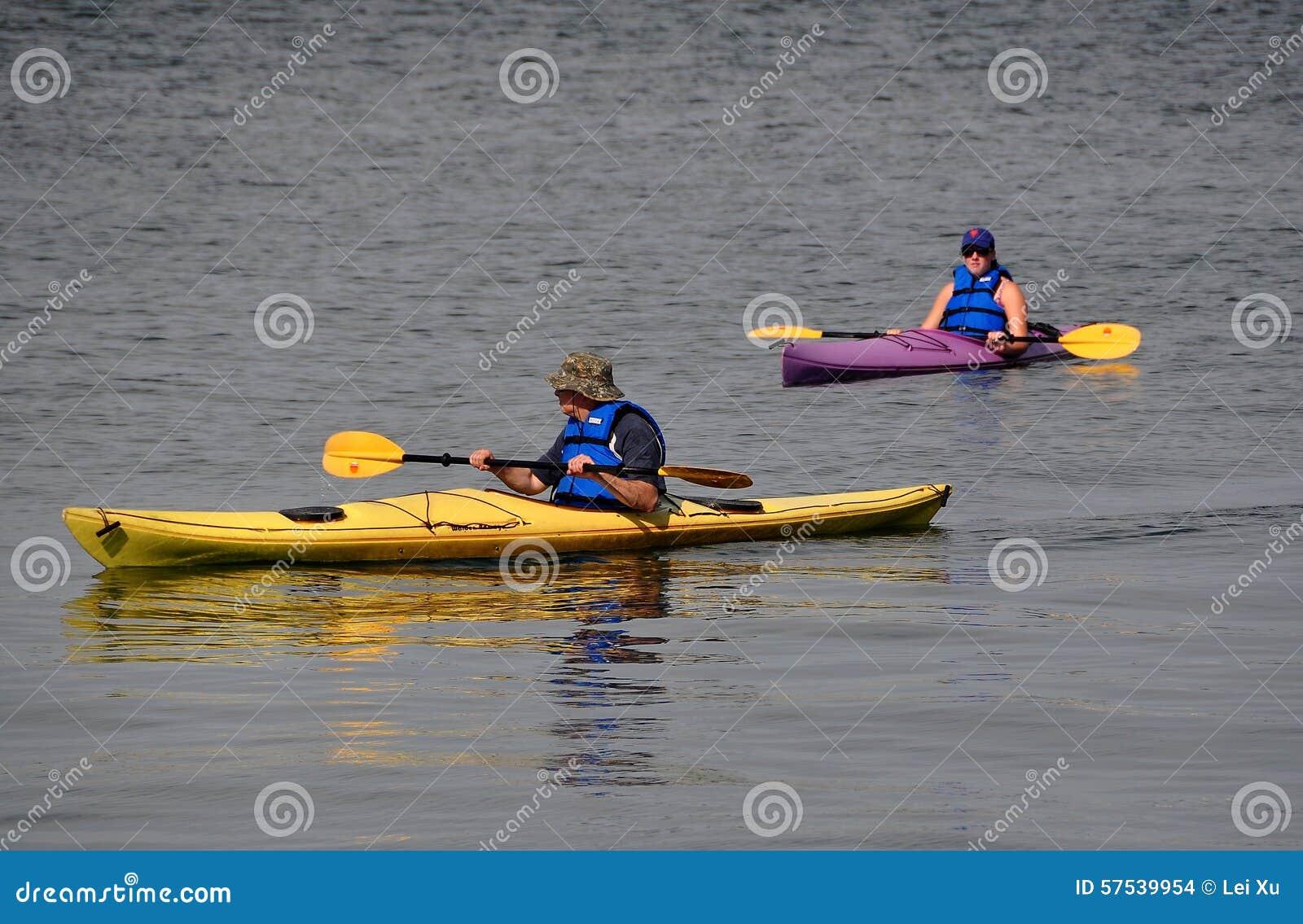 Newport ri people in kayaks editorial stock image for Fishing newport ri