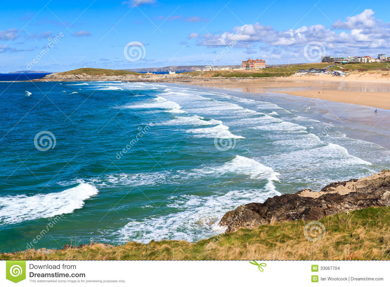 Newquay Cornwall England Stock Images - Image: 33067704