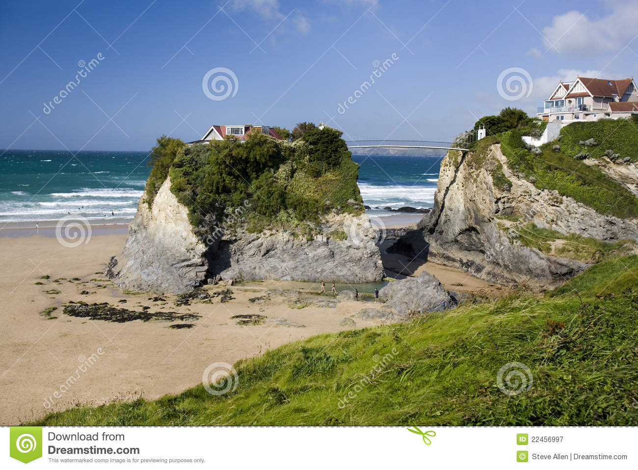 Newquay United Kingdom  city photo : ... Beach at Newquay on the north coast of Cornwall in the United Kingdom