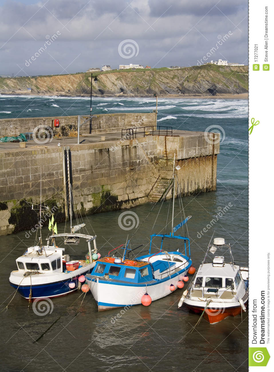 Newquay United Kingdom  City pictures : Fishing boats in Newquay Harbor in Cornwall. United Kingdom. Great ...