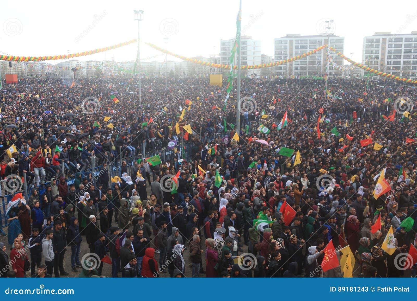 Newroz à Diyarbakir, Turquie