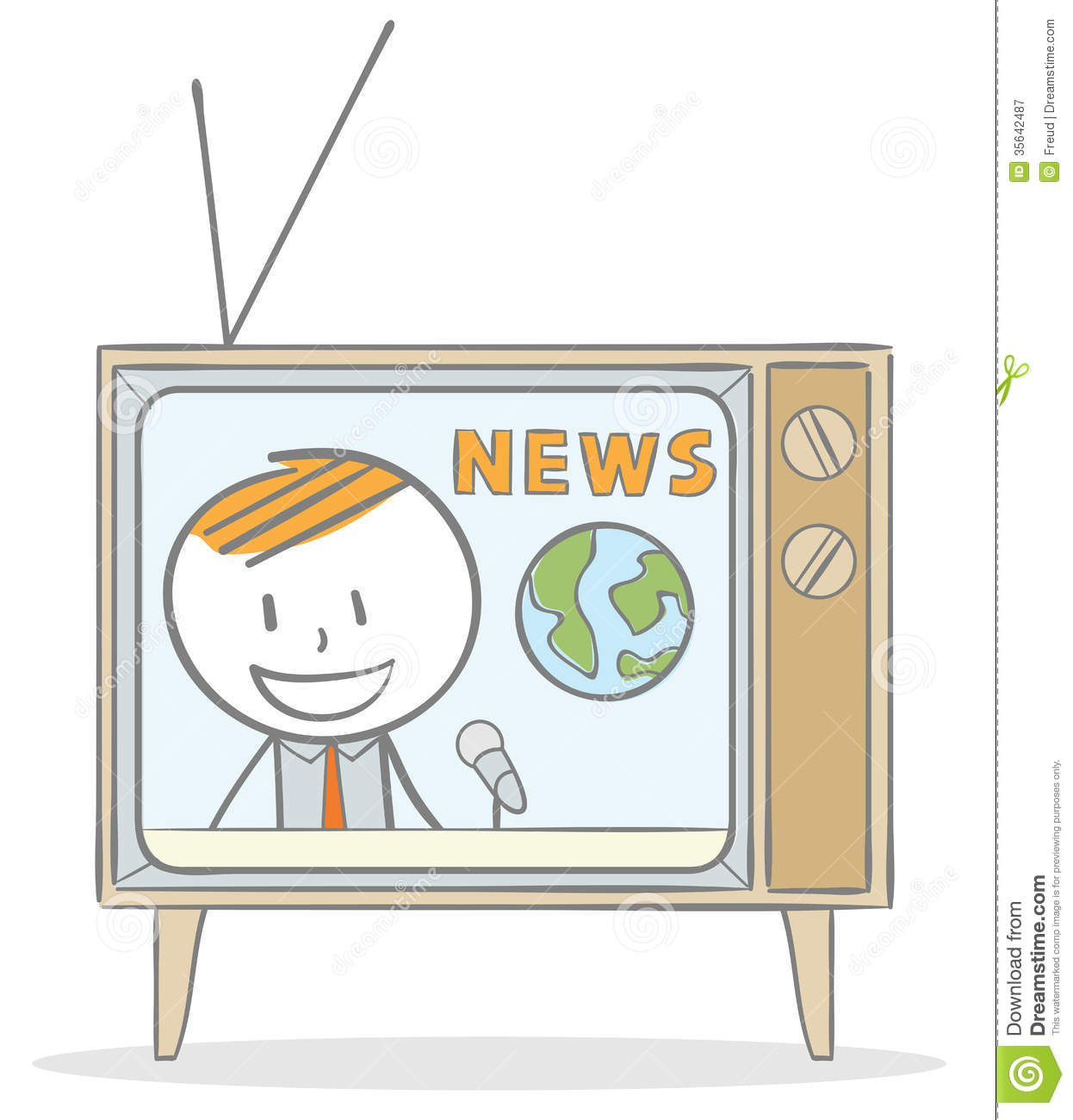 News Anchor Royalty Free Stock Photography - Image: 35642487
