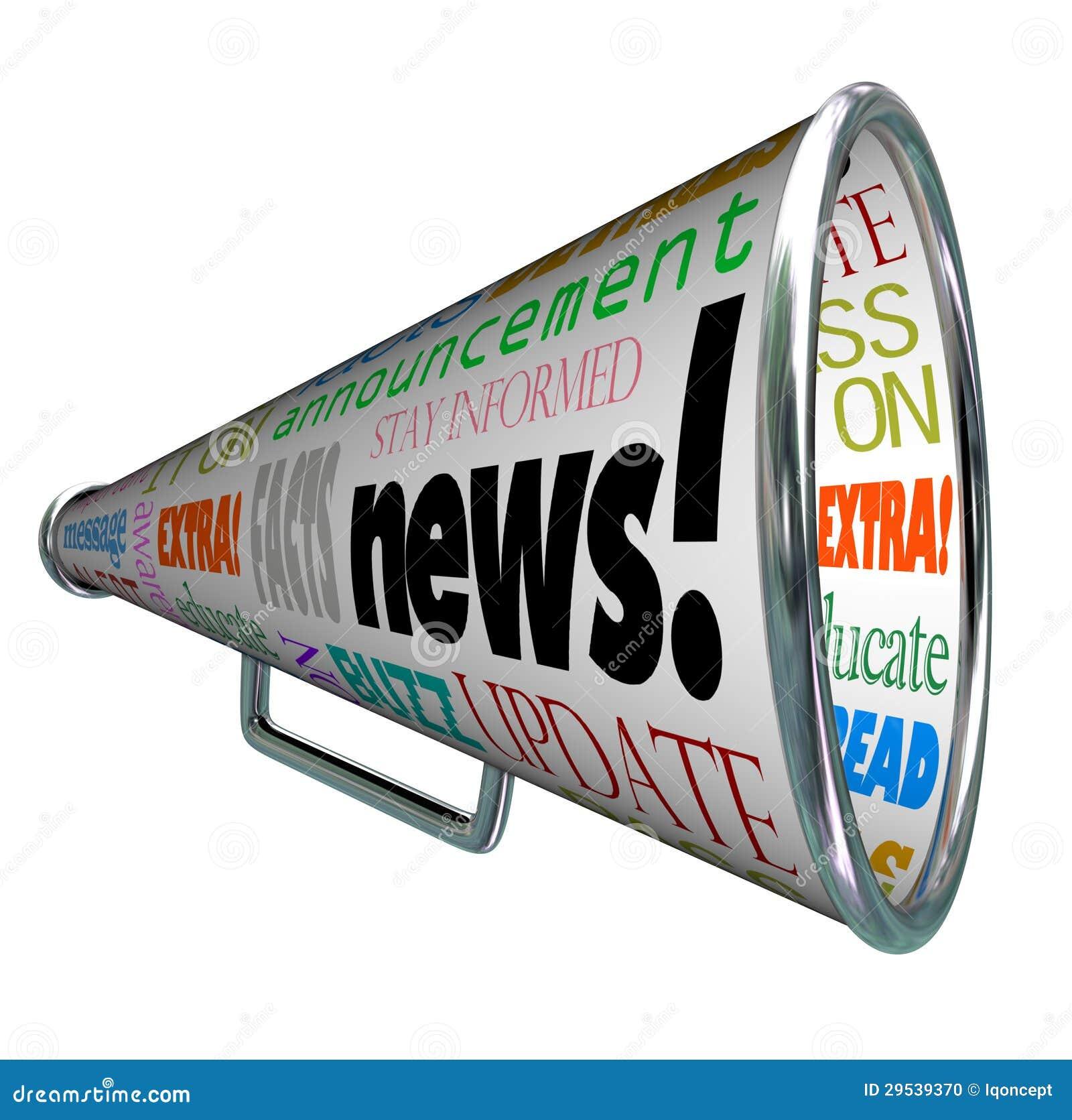 News Bullhorn Megaphone Important Alert Announcement Stock Photo ...