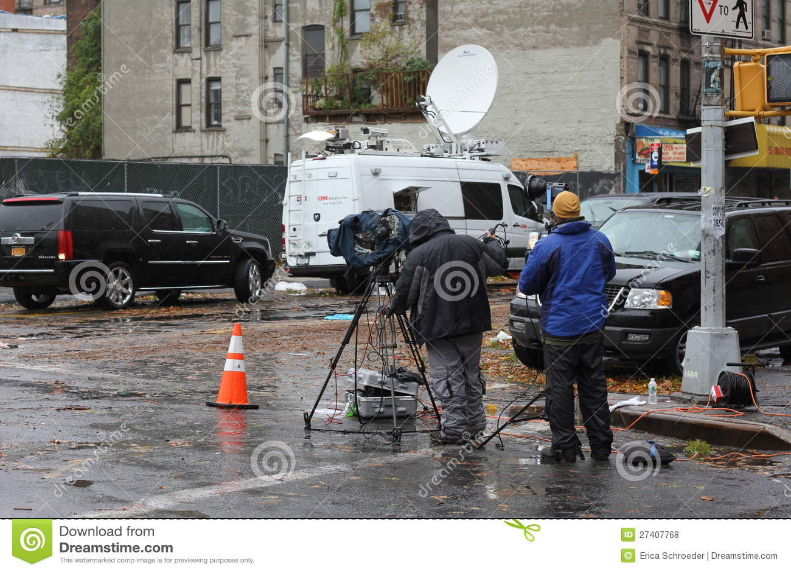 foto Filming during Hurricane Sandy