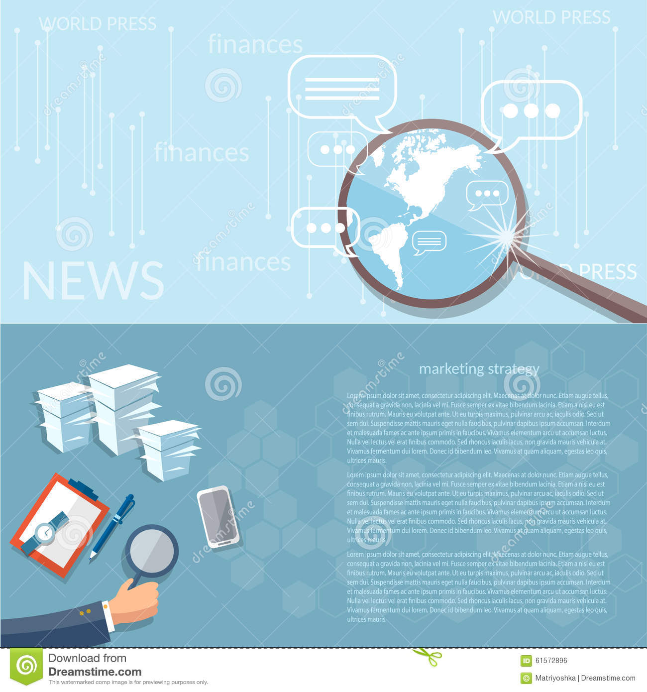 News Finance Concept Marketing Strategy Business Analyst