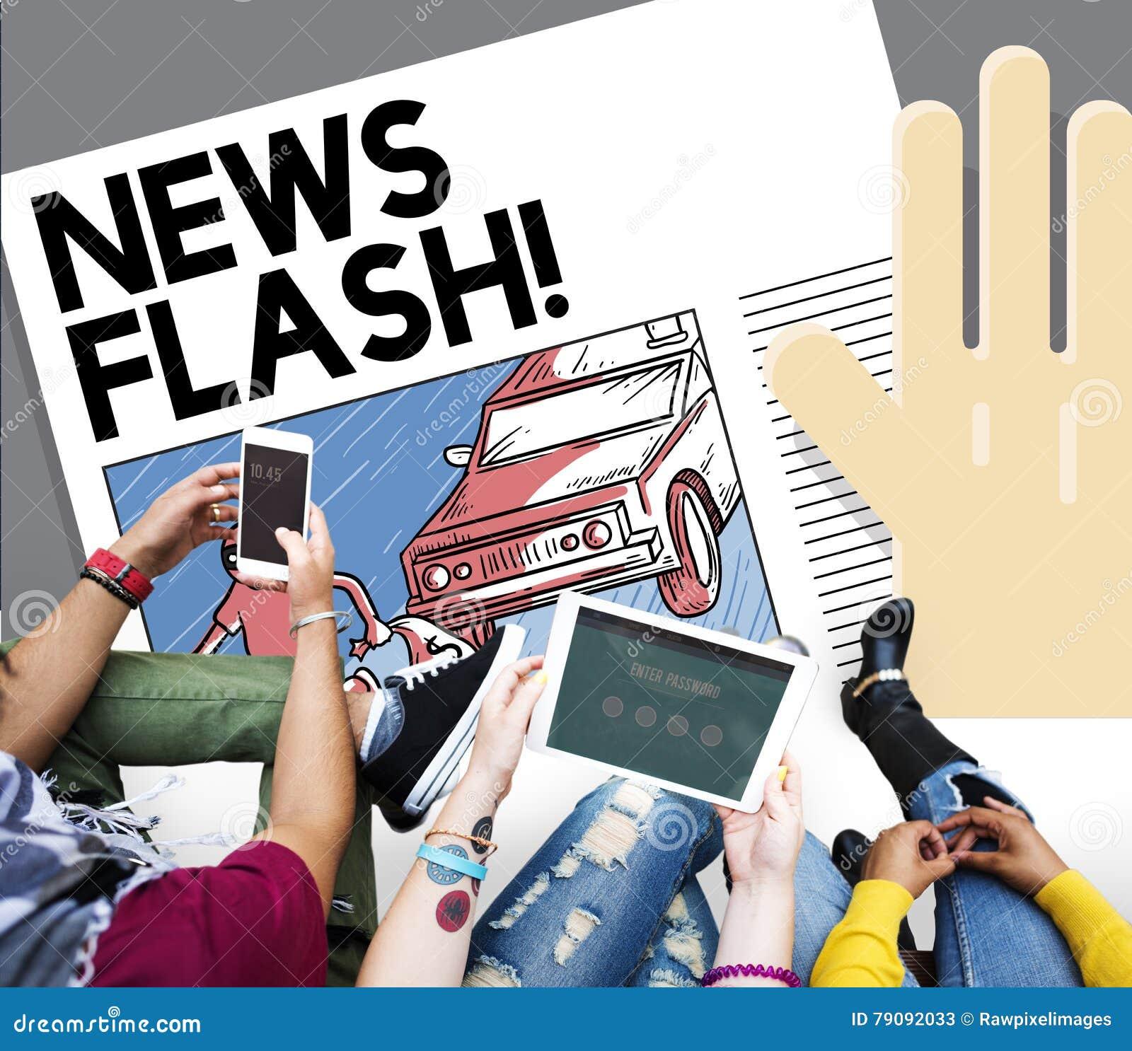 NEWS FLASH Royalty-Free Stock Image | CartoonDealer.com ...