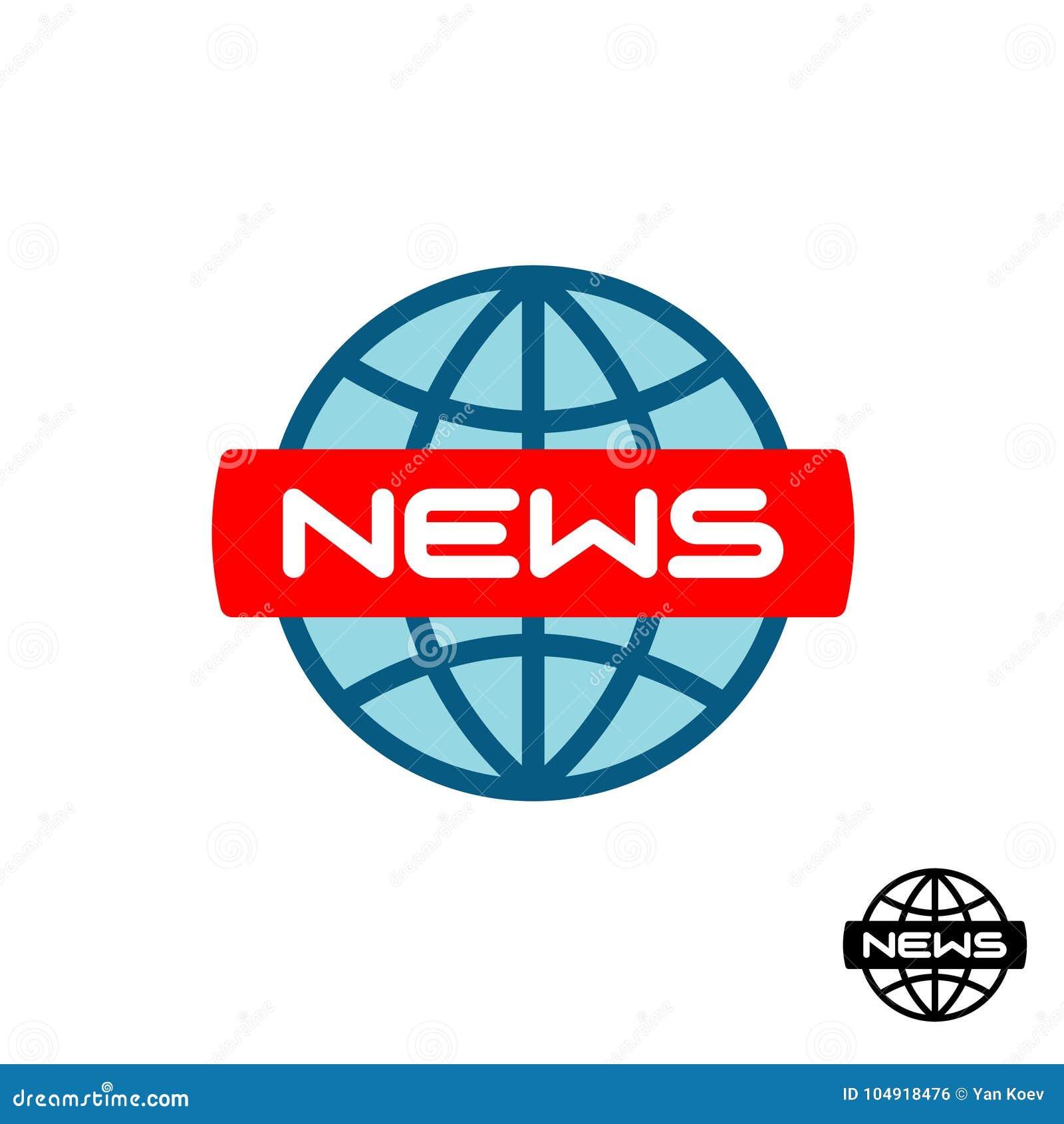 News Global Logo Stock Vector Illustration Of Background 104918476