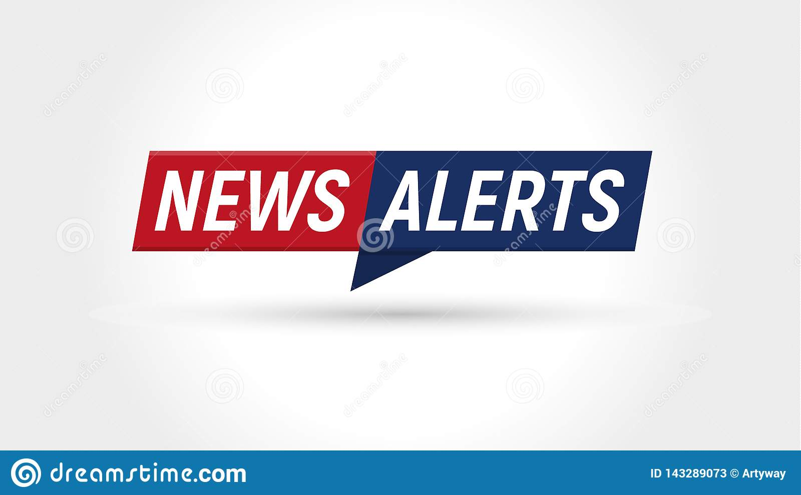News Icon  Breaking News Alerts Banner  Flat Simple Logo
