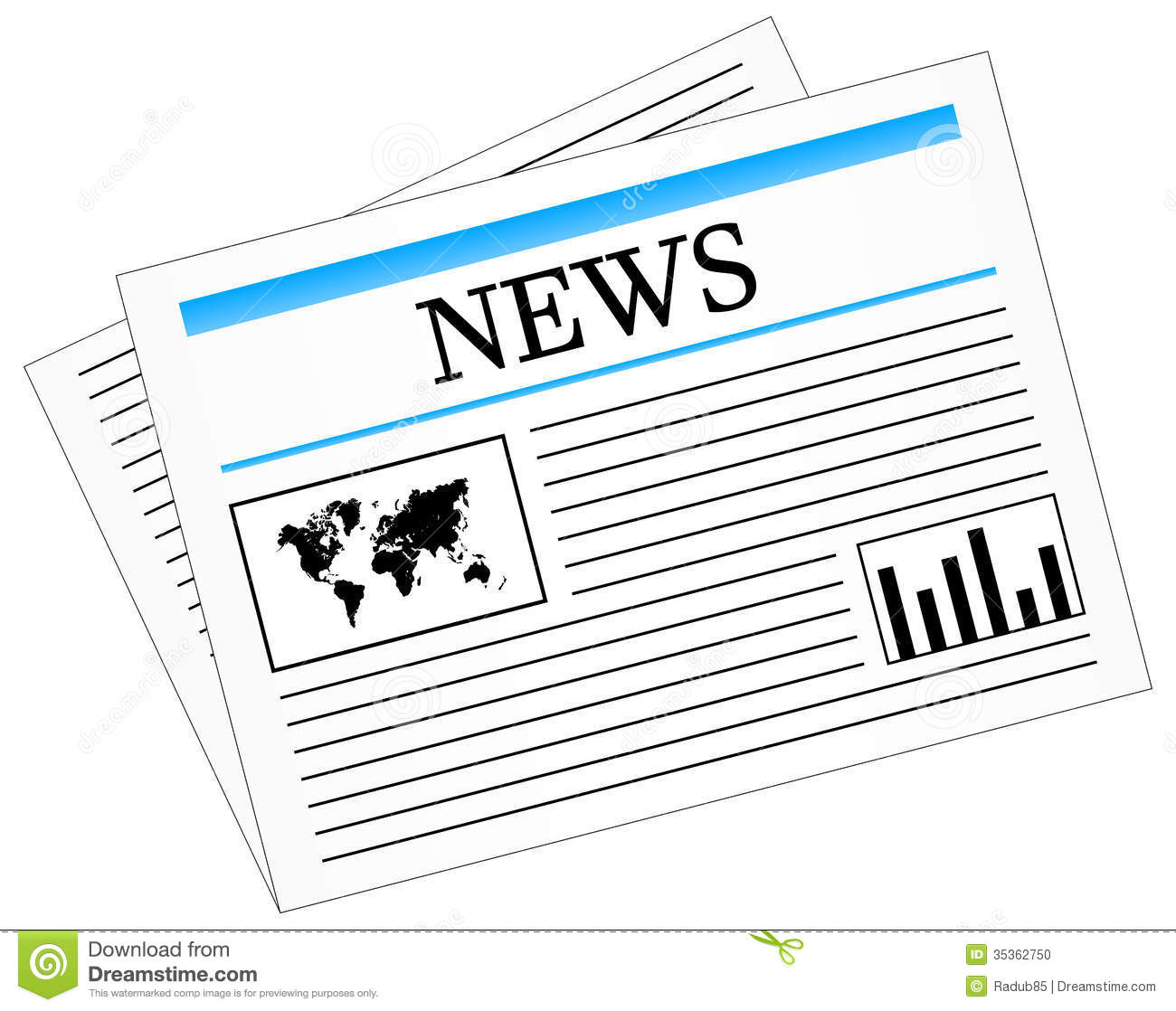 News: Daily News Newspaper Press Stock Vector. Image Of