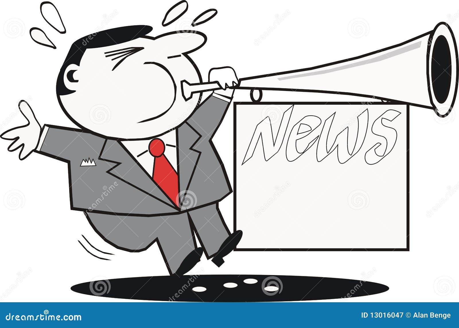 News Publicity Cartoon Royalty Free Stock Photography ...