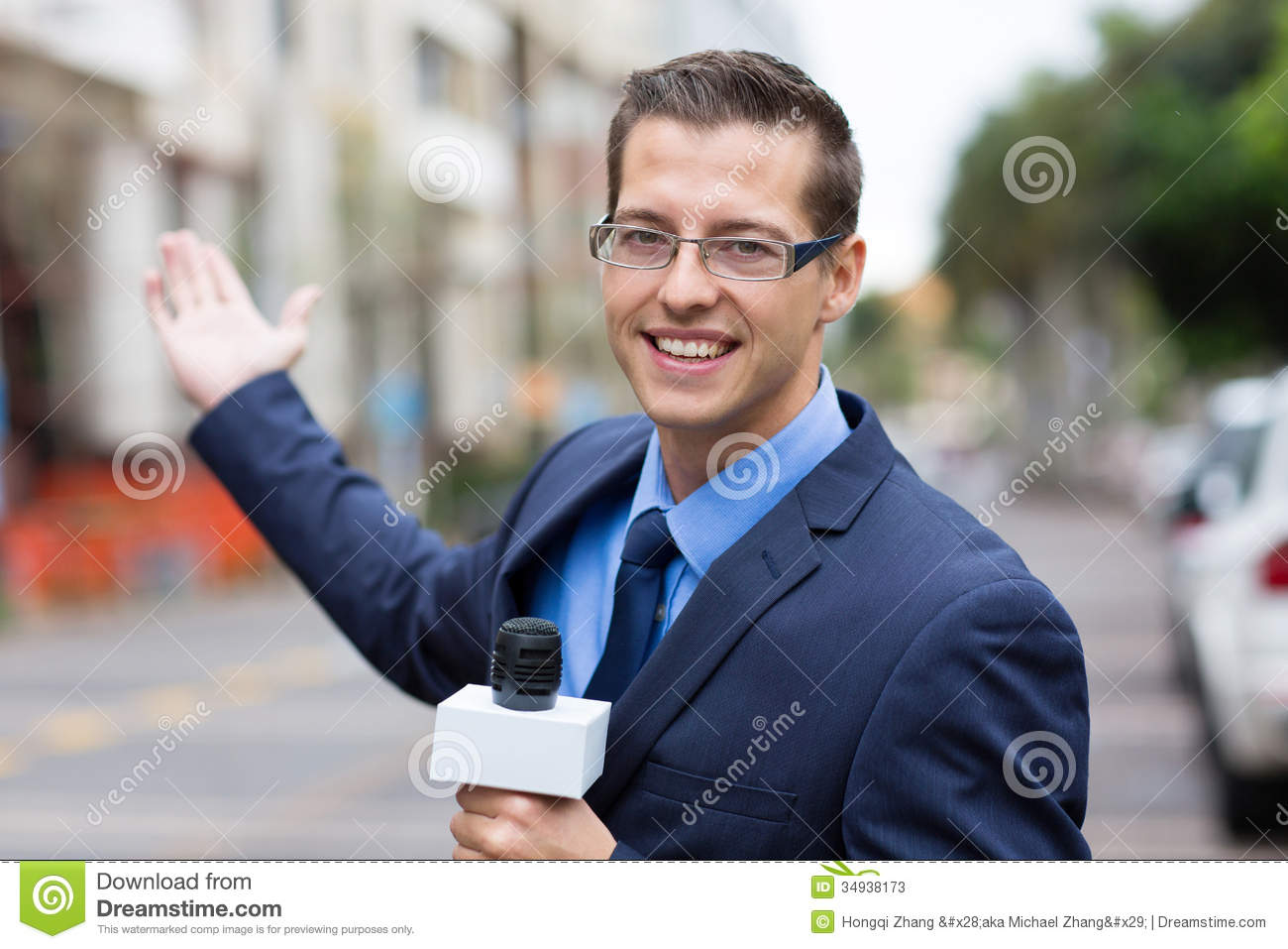 News Reporter Broadcasting Stock Photos Image 34938173