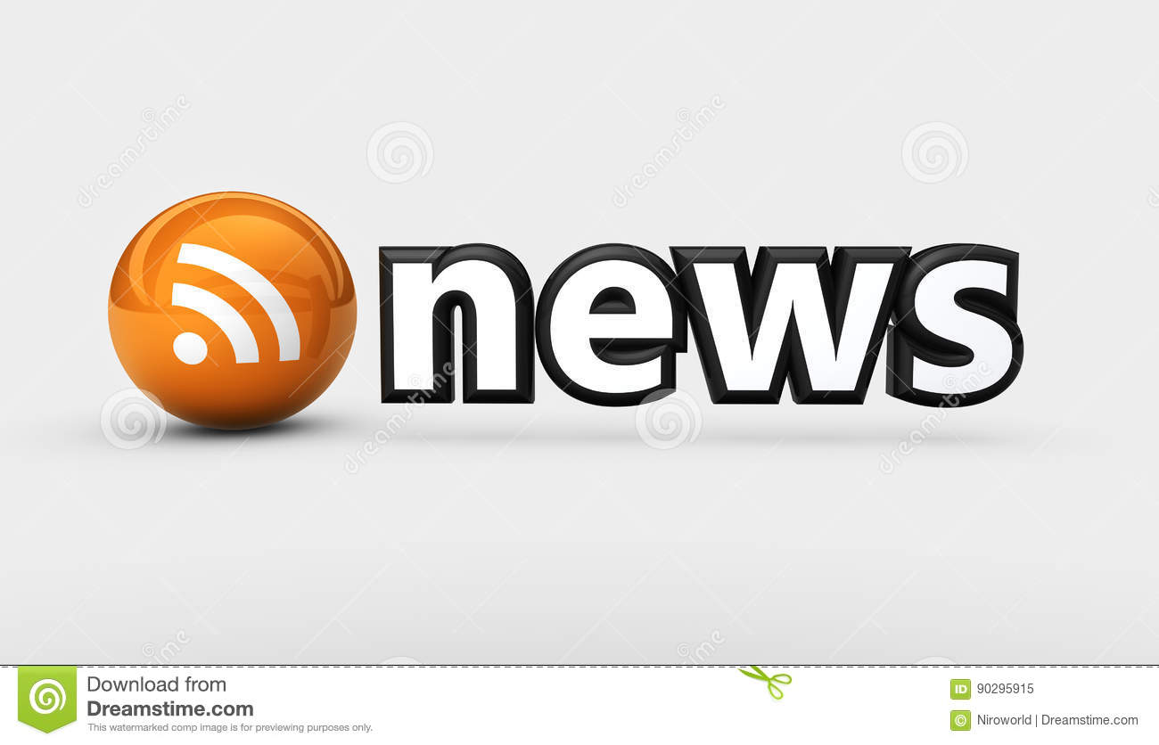 News RSS Feed Icon stock illustration  Illustration of