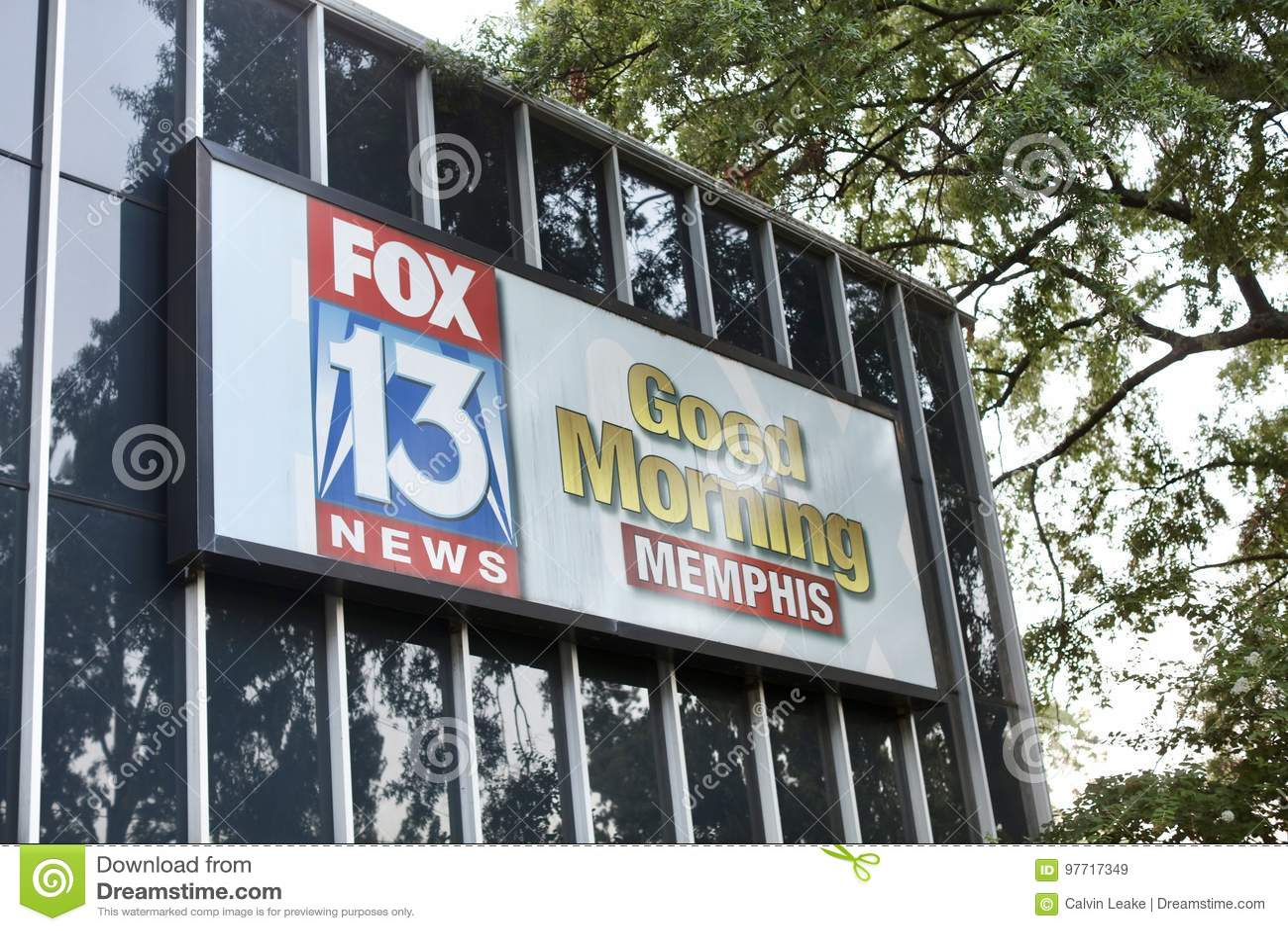 News Station Fox 13 Good Morming Memphis Editorial Stock Image