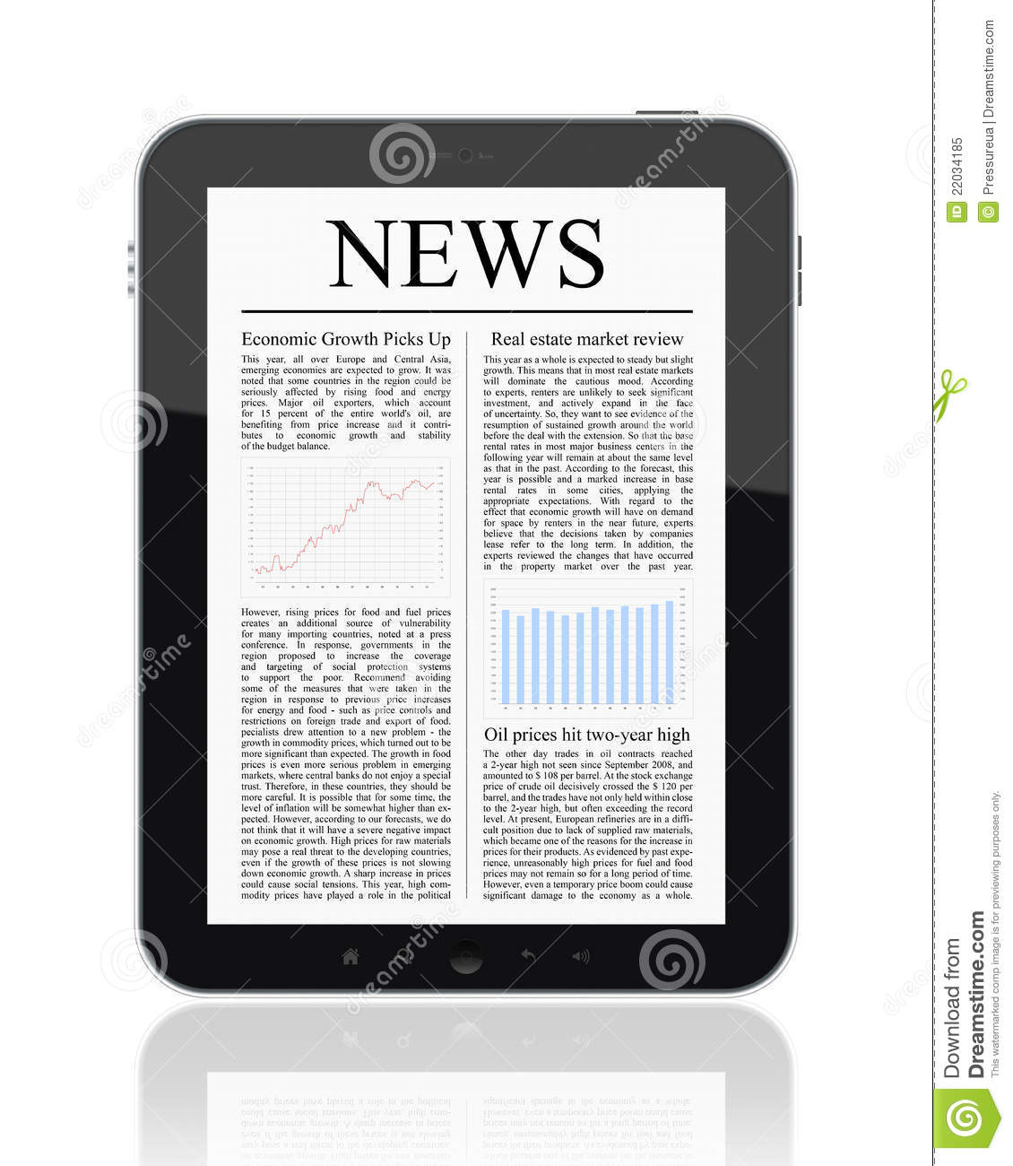News On Tablet PC Royalty Free Stock Photo Image 22034185