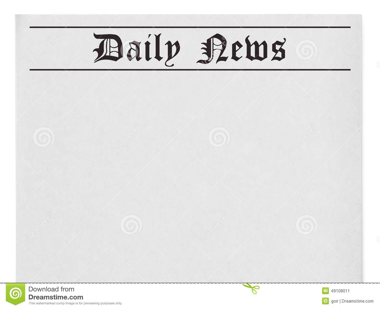 Daily news title on newspaper stock illustration for Daily design news