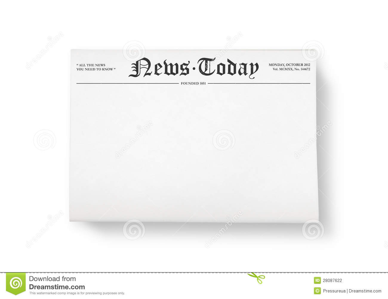 news today with blank space stock illustration - illustration of