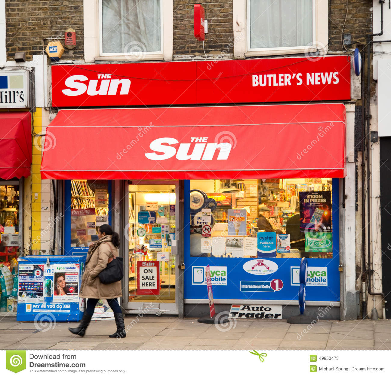 newsagent editorial stock photo   image 49850473