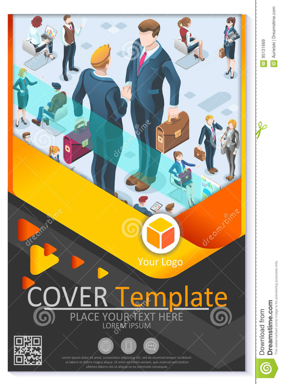 Newsletter Customizable Vector Template Corporate Magazine