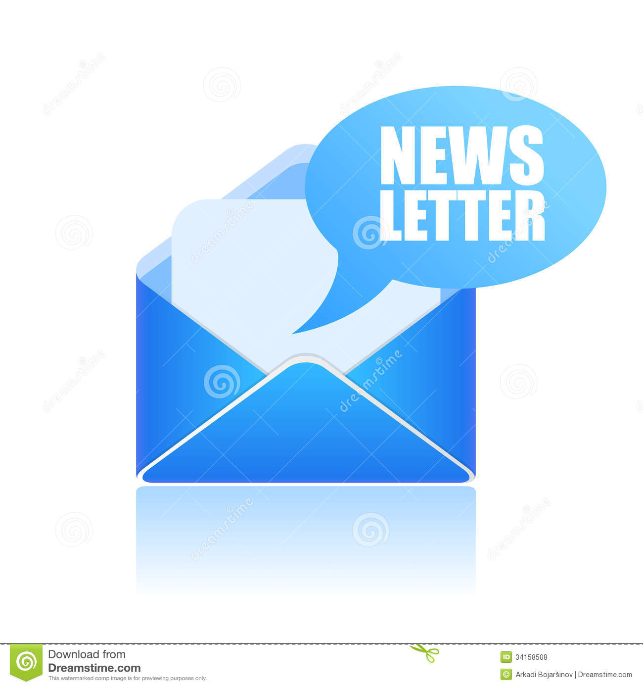 Newsletter Icon Royalty Free Stock Photos - Image: 34158508