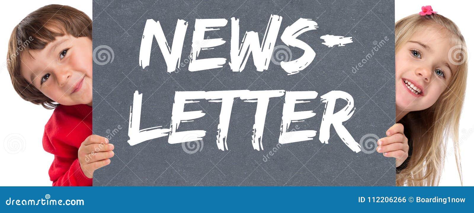 Newsletter subscribing internet marketing campaign young children kids