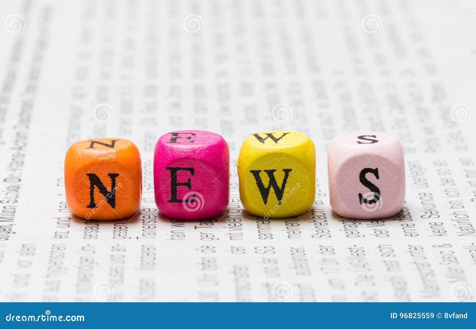 Newsletterwürfel auf Zeitungsmakro