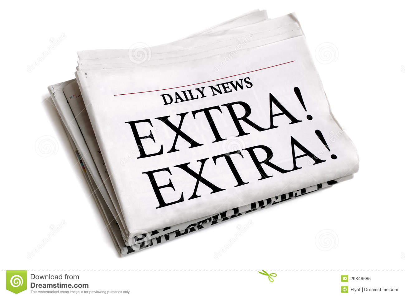 Daily newspaper stock image. Image of exclamation, folded ...
