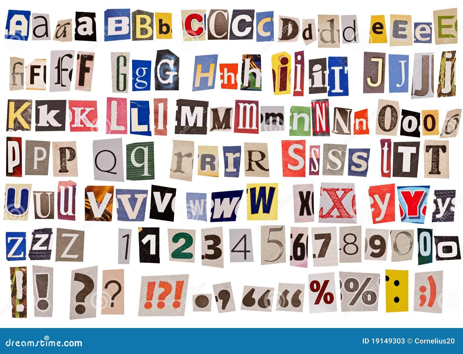 newspaper alphabet isolated stock photo 19149303 megapixl rh megapixl com newspaper cutout font free download newspaper cutout font online