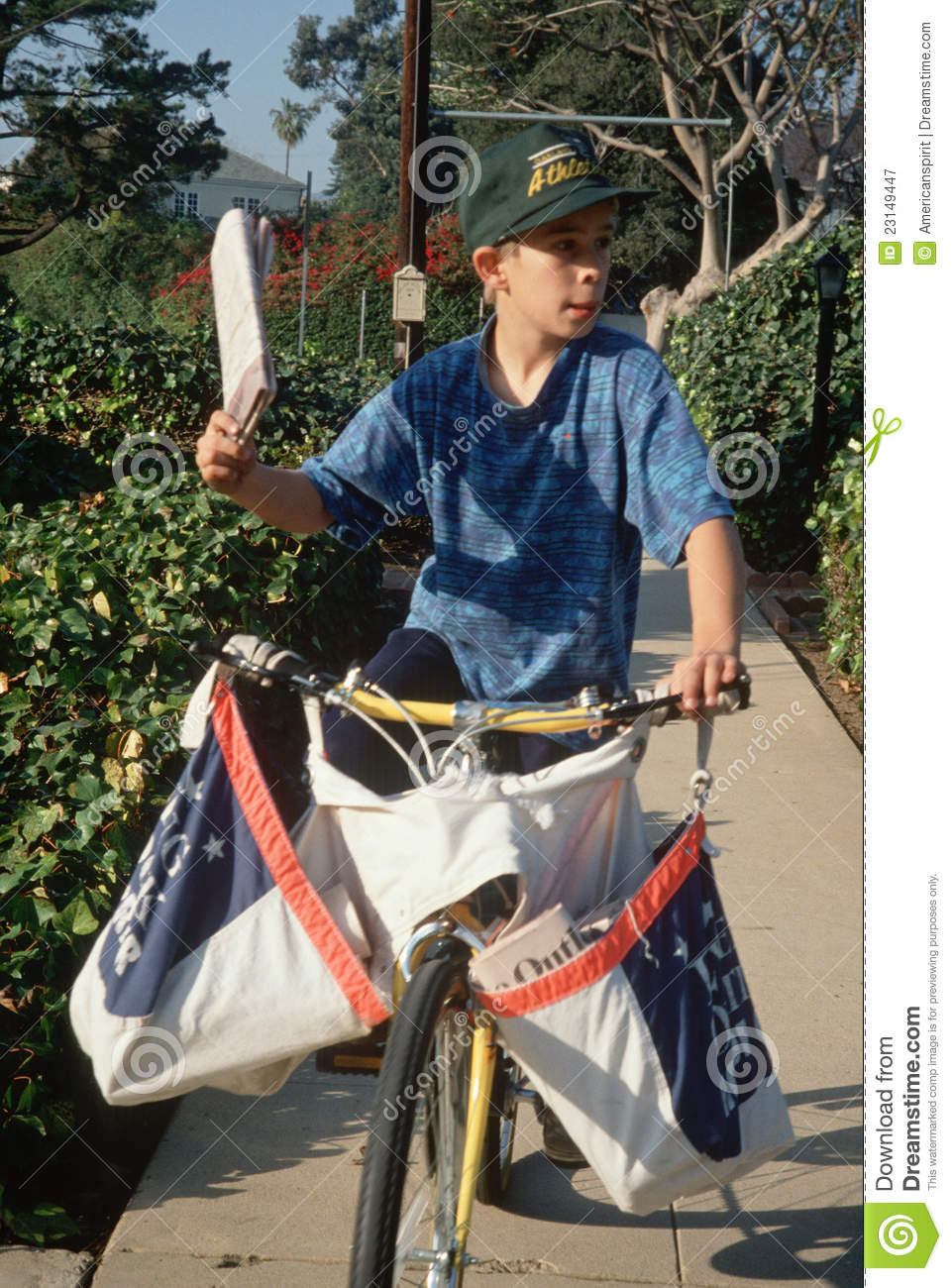 Newspaper Boy On Delivery Papers Editorial Photography - Image ...