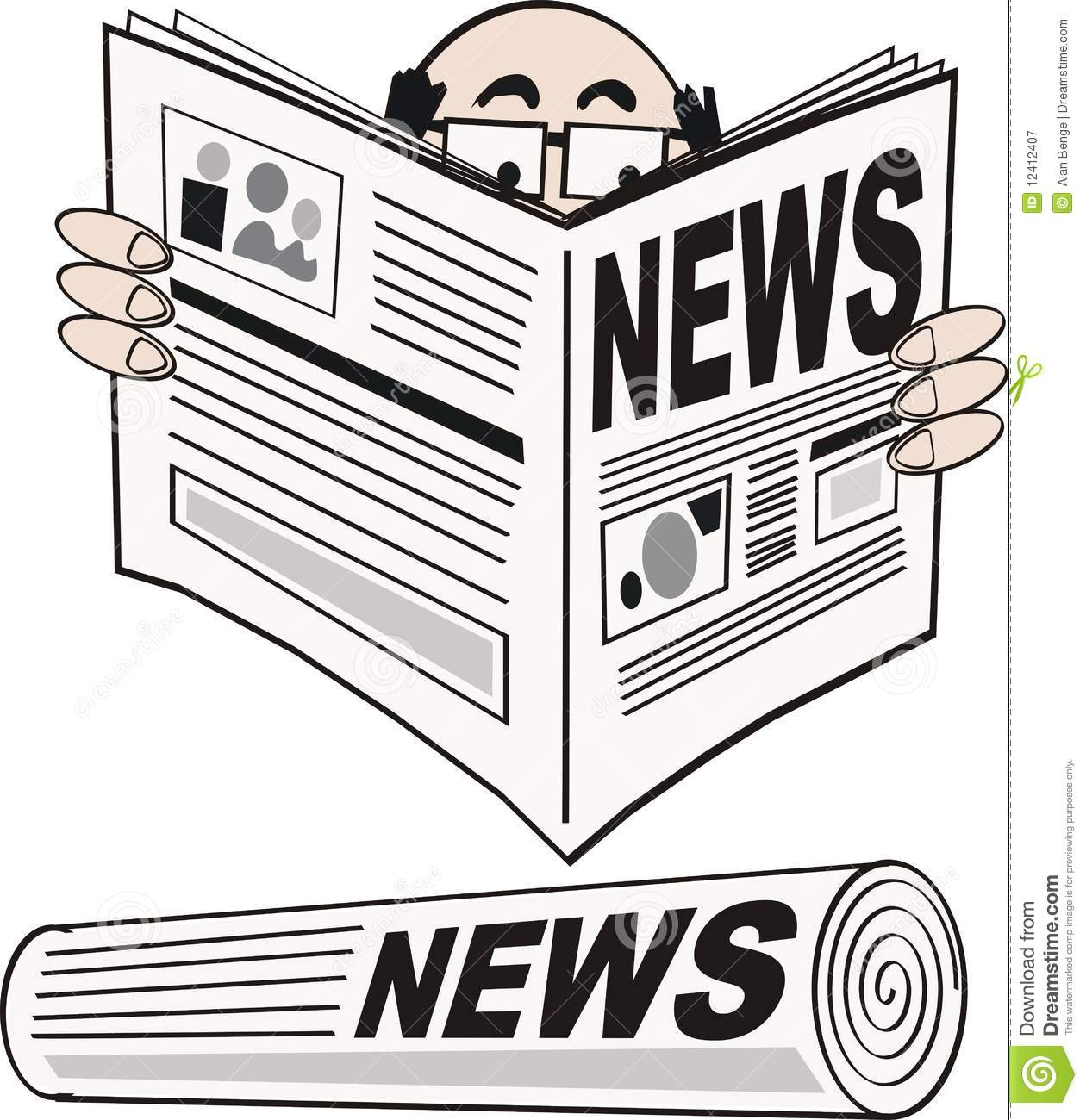 Newspaper Cartoon Royalty Free Stock Photography - Image: 12412407