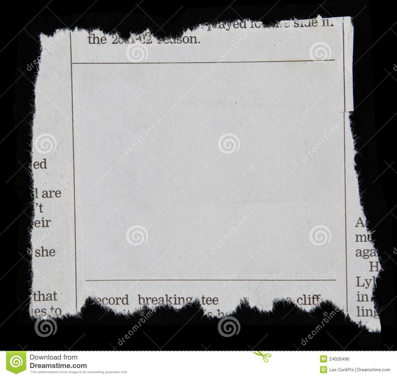 newspaper clipping royalty free stock image