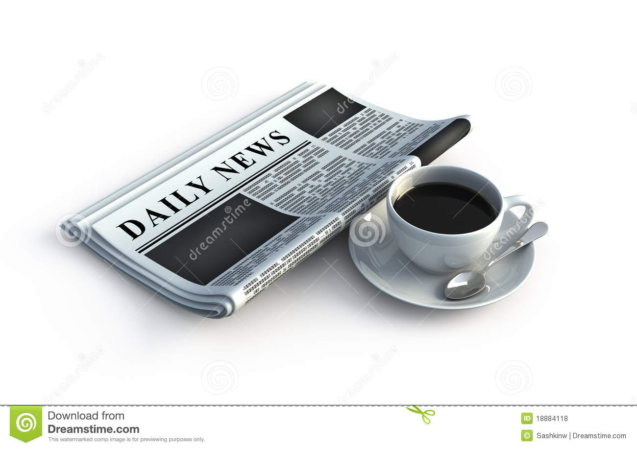 Newspaper And Coffee Cup Royalty Free Stock Photos - Image: 18884118