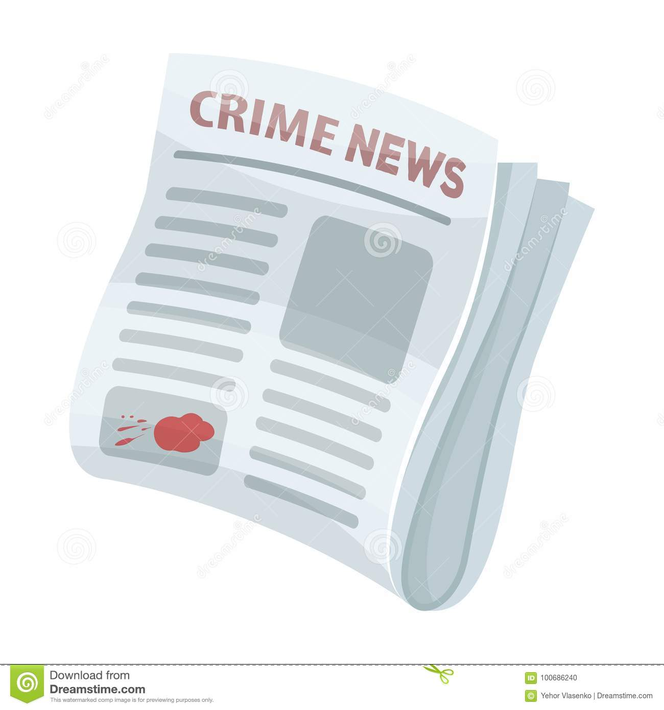 Newspaper Crime News Crime Article In The Press Single Icon In