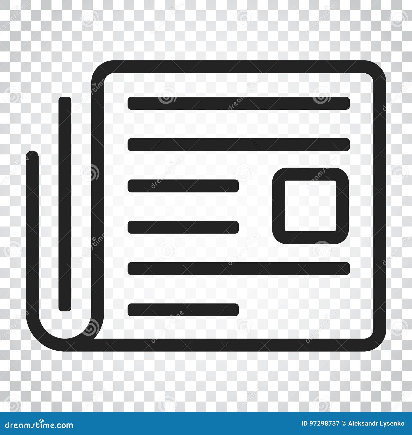 newspaper flat vector icon. news symbol logo illustration. busin