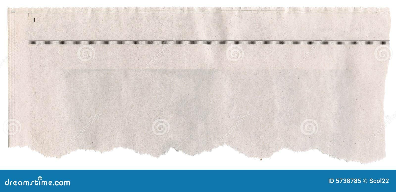 newspaper template blank