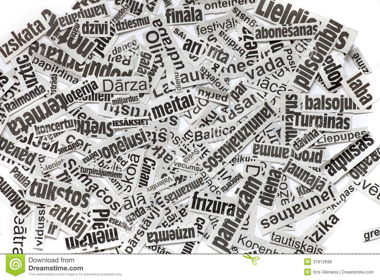 newspaper headline clipping background royalty free stock