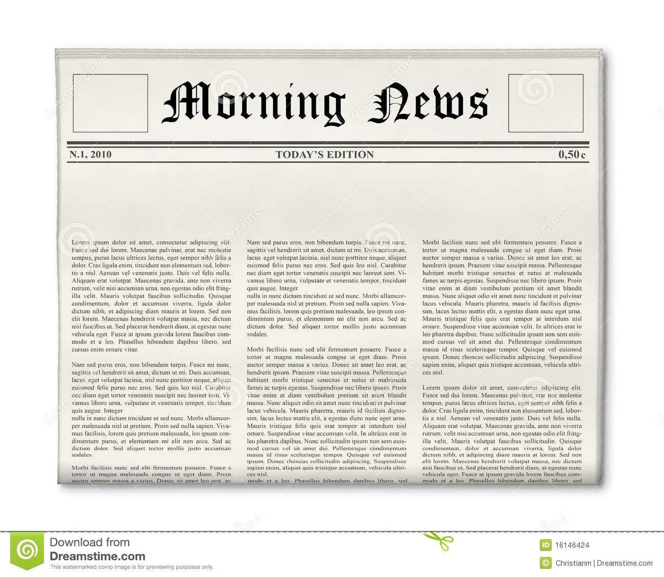 Newspaper blank template stock illustration illustration of newspaper headline template stock images toneelgroepblik Image collections
